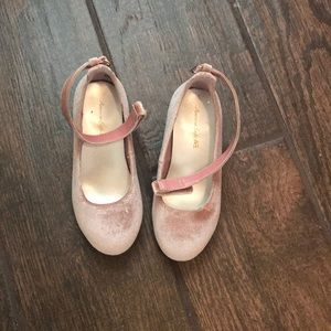 Pink suede heels for girls. Dress shoes